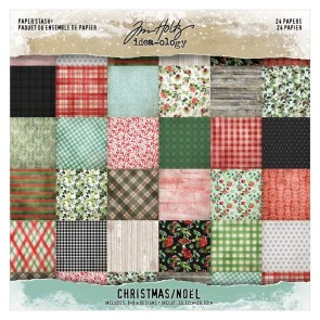 Christmas Paper Stash - Blocco di carte Tim Holtz Idea-Ology 20x20 cm