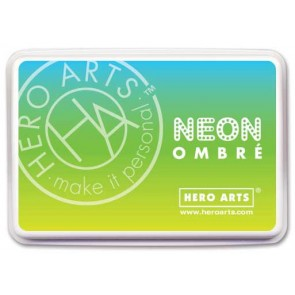 Chartreuse to Blue - Neon Ombré - Inchiostro Hero Arts