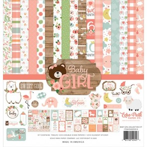 Baby Girl Collection Kit - Blocco di carte Echo Park 30x30 cm