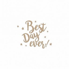 Best Day Ever Hot Foil Plate - Spellbinders