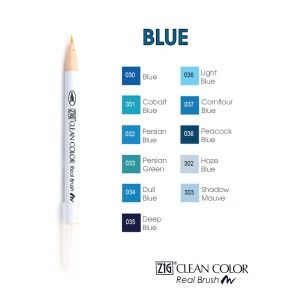 Blue - Pennarelli Zig Clean Color Real Brush