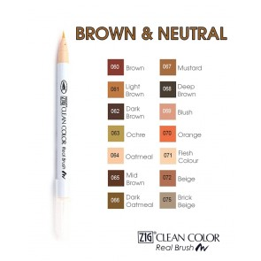 Brown & Neutral - Pennarelli Zig Clean Color Real Brush