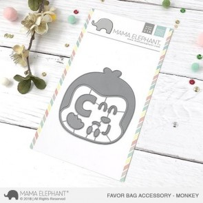 Monkey Favor Bag Accessory - Fustella Mama Elephant