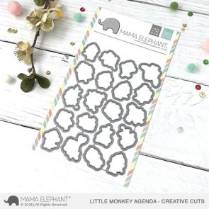 Little Monkey Agenda - Fustella Mama Elephant