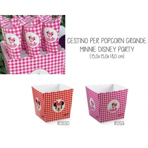 Cestino per Popcorn Grande Minnie Disney Party (5 pezzi)