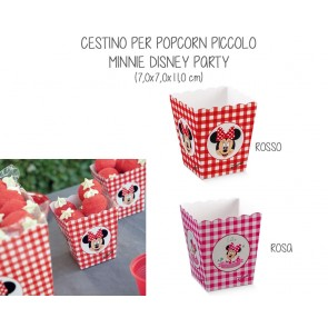 Cestino per Popcorn Piccolo Minnie Disney Party (10 pezzi)