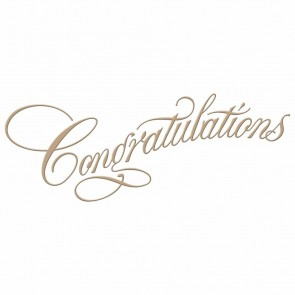 Congratulations Copperplate Script Hot Foil Plate - Spellbinders