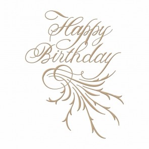 Happy Birthday Copperplate Script Hot Foil Plate - Spellbinders
