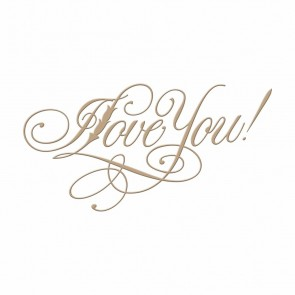 I Love You Copperplate Script Hot Foil Plate - Spellbinders