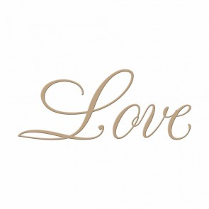 Love Copperplate Script Hot Foil Plate - Spellbinders