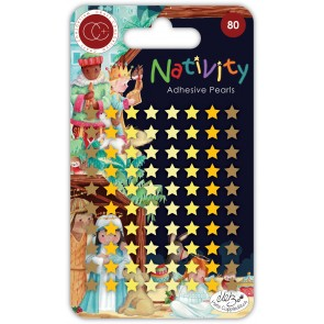 Nativity Stars Pearl Adhesive  - Accessori Craft Consortium