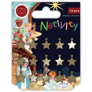 Nativity Star Metal Charm - Accessori Craft Consortium