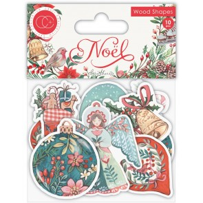 Noel Wooden Shapes - Accessori Craft Consortium