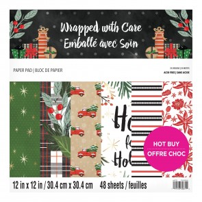 Wrapped with Care - Blocco di carte Craft Smith 30x30 cm