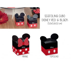 Scatolina Cubo Disney Red & Black (20 pezzi)