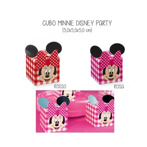 Scatolina Cubo Minnie Disney Party (20 pezzi)