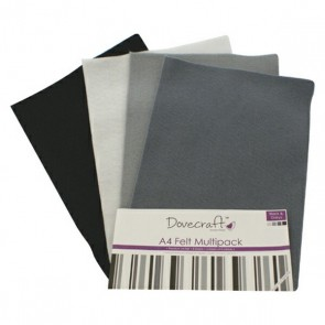 Black & Greys - Feltro A4 Multipack