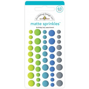 Birthday Boy Assortment Matte Sprinkles - Doodlebug