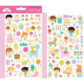 Hey Cupcake Mini Icons Stickers - Doodlebug