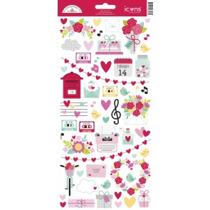 Love Notes Icons Stickers - Doodlebug