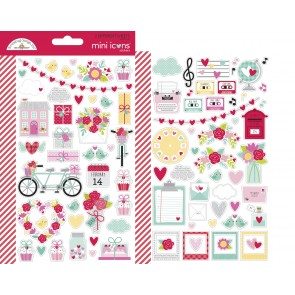 Love Notes Mini Icons Stickers - Doodlebug