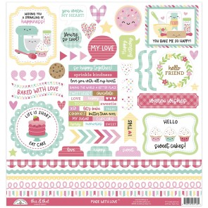 Made with Love  This & That Sticker - Doodlebug