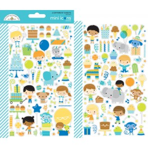 Party Time Mini Icons Stickers - Doodlebug