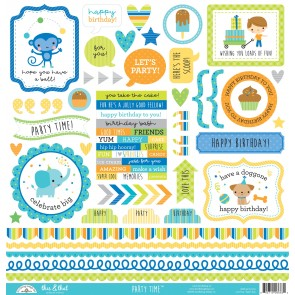 Party Time This & That Stickers - Doodlebug