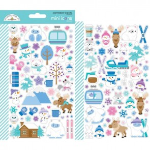 Winter Wonderland Mini Icons Stickers - Doodlebug