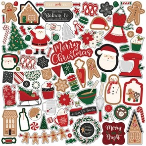 A Gingerbread Christmas 12x12 Element Sticker - Echo Park