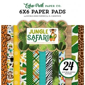 Jungle Safari - Blocco di carte Echo Park 15x15 cm