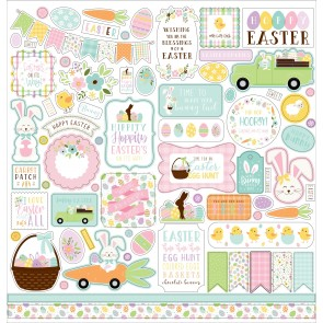 "Welcome Easter 12x12"" Element Stickers - Echo Park"