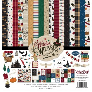 Witches & Wizards No.2 Collection Kit - Blocco di carte Echo Park 30x30 cm