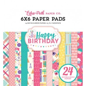Happy Birthday Girl - Blocco di carte Echo Park 15x15 cm