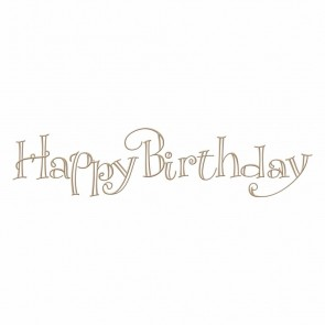 Happy Birthday Faux Script Hot Foil Plate - Spellbinders