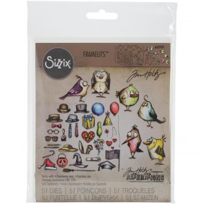 Mini Birds Crazy & Things - Fustella Framelits Tim Holtz