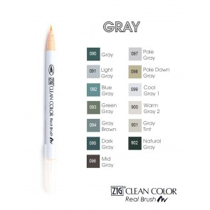 Gray - Pennarelli Zig Clean Color Real Brush