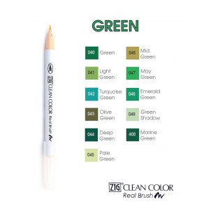 Green - Pennarelli Zig Clean Color Real Brush