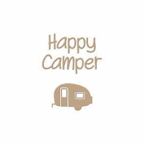 Happy Camper Hot Foil Plate - Spellbinders