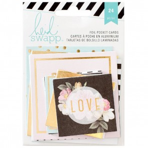 Gold Foil Pocket Card - Accessori per Planner by Heidi Swapp