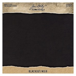 Blackout Kraft Stock - Blocco di carte Tim Holtz Idea-Ology 20x20 cm