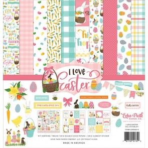 I Love Easter Collection Kit - Blocco di carte Echo Park 30x30 cm