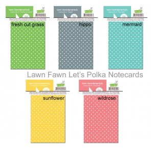 Lawn Fawn- Let's Polka Notecards