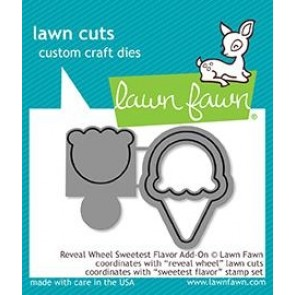 Reveal Wheel Sweetest Flavor Add-on - Fustella Lawn Fawn