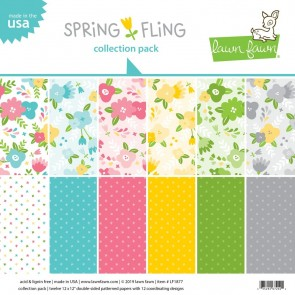 Spring Fling Collection Pack - Blocco di carte Lawn Fawn 30x30 cm