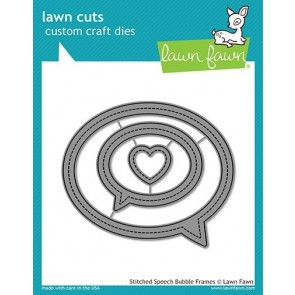 Stitched Speech Bubble Frames - Fustella Lawn Fawn