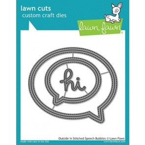 Outside In Stitched Speech Bubbles - Fustella Lawn Fawn