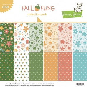 Fall Fling Collection Pack - Blocco di carte Lawn Fawn 30x30 cm