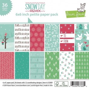 Snow Day Remix Petite - Blocco di carte Lawn Fawn 15x15 cm