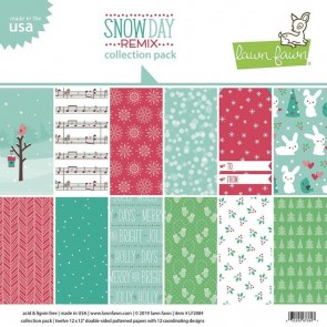 Snow Day Remix Collection Pack - Blocco di carte Lawn Fawn 30x30 cm